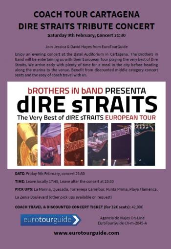 Coach Tour Dire Straits Concert 9th February 2019