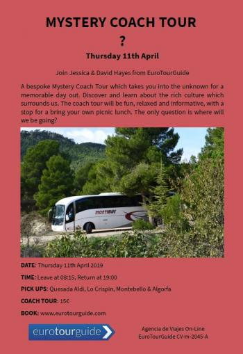 EuroTourGuide Coach Tour 11th April Mystery Day Out