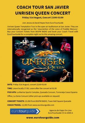 EuroTourGuide Coach Tour Queen Unrisen Concert 31st August 2018