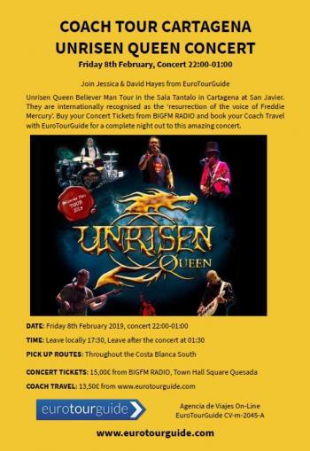 EuroTourGuide Coach Tour Queen Unrisen Cartagena 08/02/2019