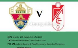 EuroTourGuide Coach Tour Elche CF v Granada CF Saturday 18th August 2018