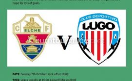 EuroTourGuide Coach Tour Elche CF v CD Lugo Sunday 7th October 2018