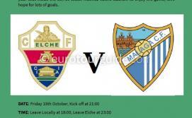 EuroTourGuide Coach Tour Elche CF v Malaga CF Friday 19th October 2018a
