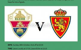 EuroTourGuide Coach Tour Elche CF v Zaragoza SAD Sunday 28th October 2018