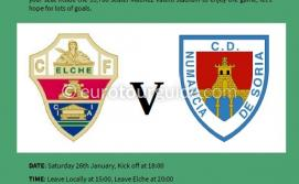 EuroTourGuide EuroTourGuide Coach Tour Elche CF v Numancia Saturday 26th January 2019