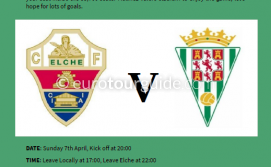 EuroTourGuide Coach Tour Elche CF v Cordoba 7th April 2019