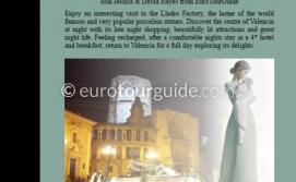 EuroTourGuide Coach Tour 1 night Valencia & Lladro 16th-17th May 2019
