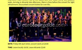 Coach Tour Choir Concert ADDA Alicante 6th April 2018