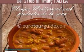 Altea El Plat de Calent Gastronomy Week 21st February - 1st March 2020