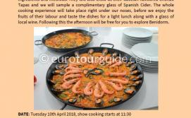 Coach Tour Show Cooking Benidorm 10th April 2018