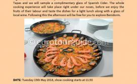 Coach Tour Show Cooking Benidorm 15th May 2018