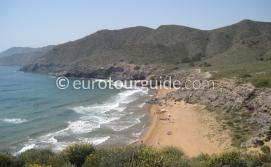 Where to go in Calblanque Regional Park Costa Calida Murcia Spain, the beach is one of many places to visit and things to see and do
