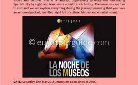 Coach Tour Museums Night Cartagena 19th May 2018