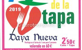 Daya Nueva 7th Tapas Route 31st August & 1st September 2019