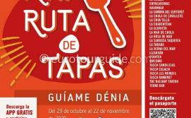 EuroTourGuide Denia 17th Guiame Tapas 29th October - 22nd November 2020