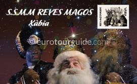 Javea / Xabia Three Kings arrive by Boat 5th January 2020