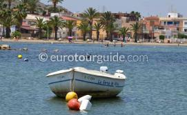 Where to go in Los Urrutias Mar Menor Costa Calida Murcia Spain, the coastline is one of many things to do and places to visit here.