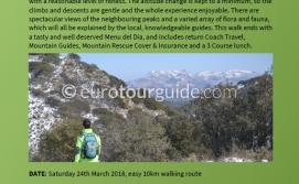 Coach Tour Mountain Walk & Lunch 24th March 2018
