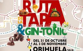 Orihuela 7th Tapas & Gin Tonic Route 31st October - 3rd November 2019