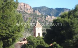 Where to go in the Sierra Espuna Regional Park Murcia Spain, Sanctuary Santa Eulalia one of many things to do and places to visit