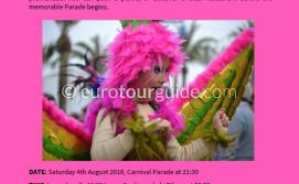 EuroTourGuide Coach Tour Santiago de la Ribera Summer Carnival 4th August 2018