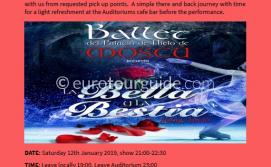 Coach Tour Russian Ballet on Ice Beauty and the Beast 12th January 2018