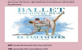 Coach Tour National Russian Ballet Nutcracker 8th November 2018