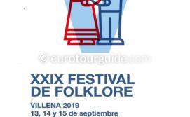 Villena XXIXFestival de Folklore 29th Folk Festival 13th to 15th September 2019