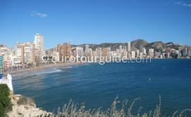 Holiday in Benidorm Costa Blanca Spain, Enjoying the beach one of many places to visit and things to do in Benidrom