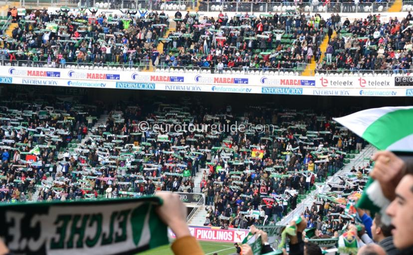 Whats on in Elche Spain, La Liga Fixtures are played at the Martinez Valero the home of Elche CF