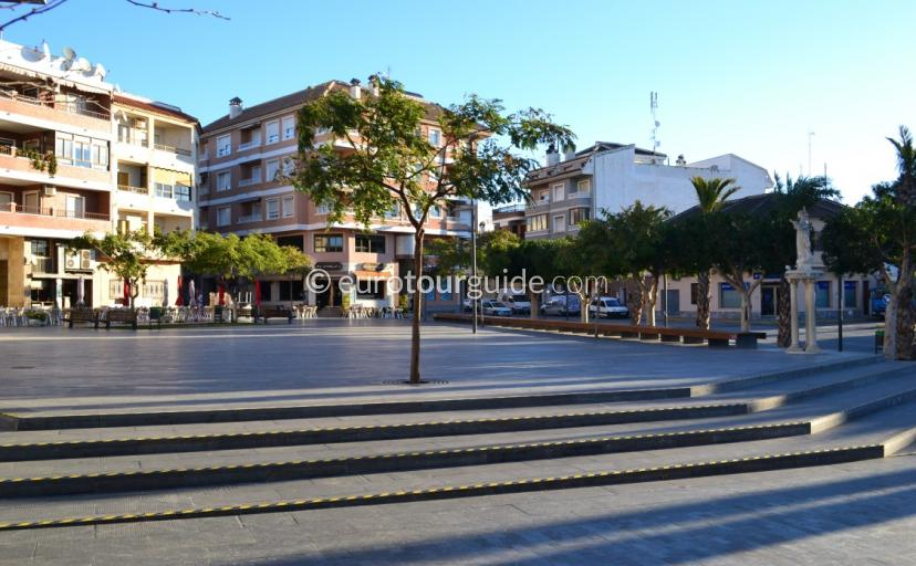 The Square in Los Montisinos, one of many places to visit in this popular and tradttional Costa Blanca Village