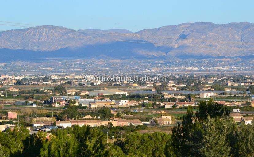 View across the Vega Baja Alicante Spain