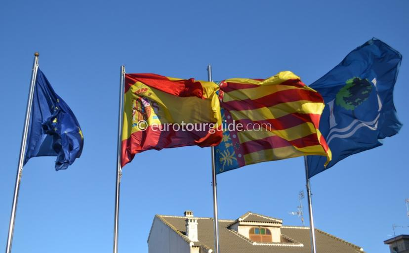 The Spanish Flag Flying