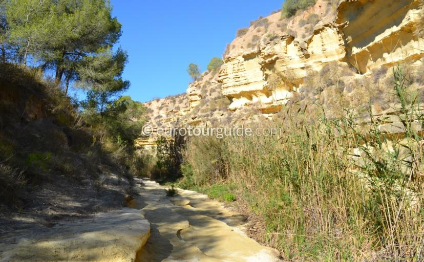 Walking Routes in the Costa Blanca, These images from the Rio Seco prove this is a real gem of a walk in Pinar Campoverde Pilar de Horadada