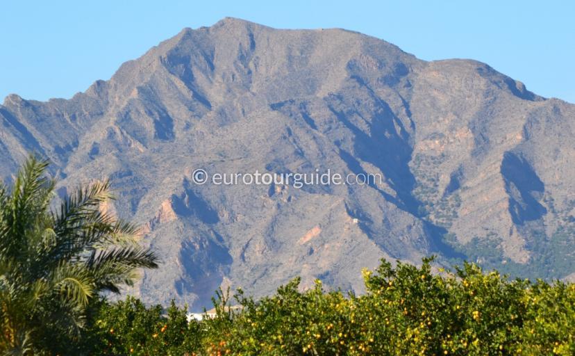 Mountains around Almoradi Costa Blanca Spain