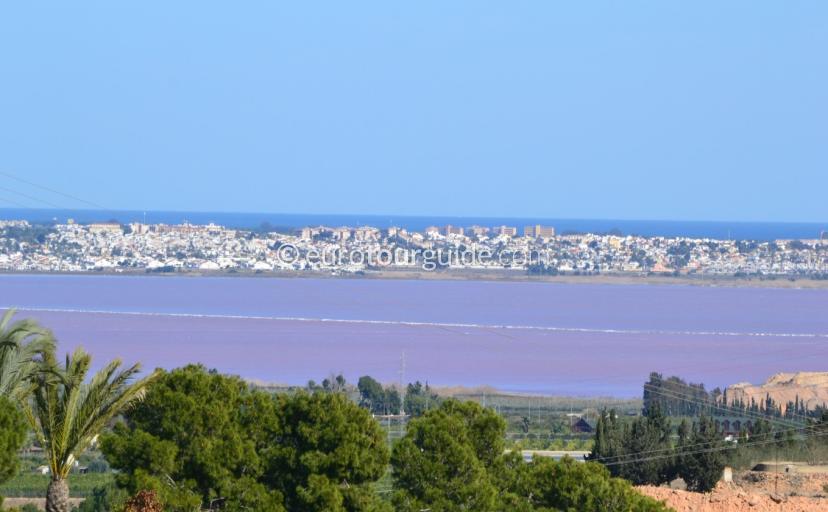 Salt Lakes around San Miguel de Salinas Alicante Spain