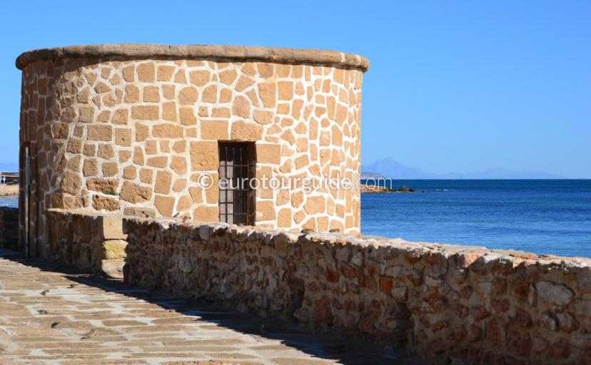What ot do in La Mata Costa Blanca, taking photos of landmarks is great on a clear blue day