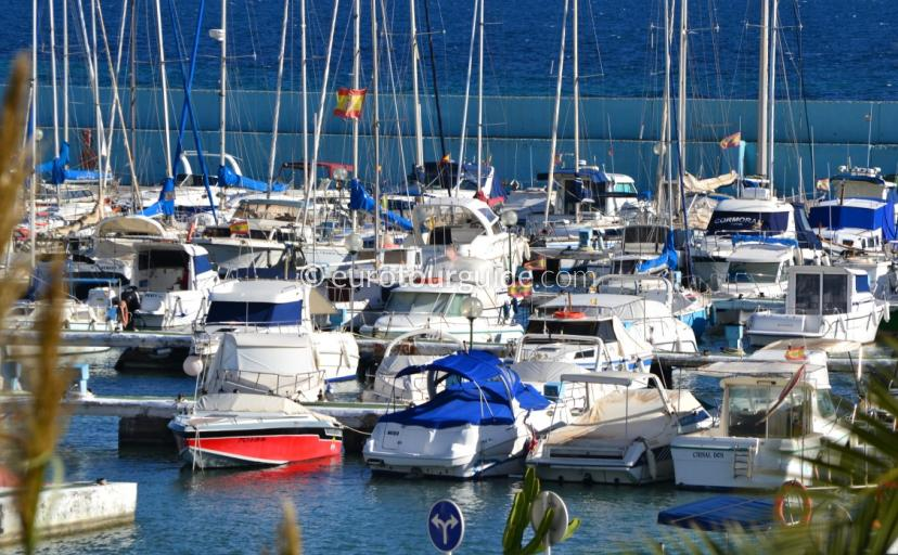 Where to go in Torre de la Horadada, enjoy a drink over looking the marina