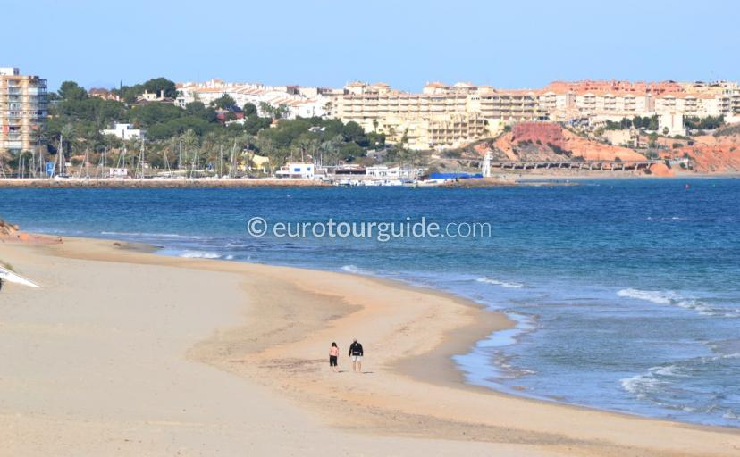Where to go in Mil Palmeras Alicante Spain, the beach is a great start