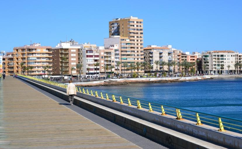 Walk out to sea along Torrevieja's Harbour Wall Promenade one of many things to do in Torrevieja