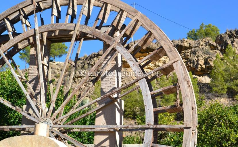 The water wheels of the Ricote Valley Murcia Spain