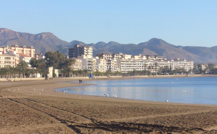 Mazarron Town Beach Murcia Spain one of many things to do and places to visit