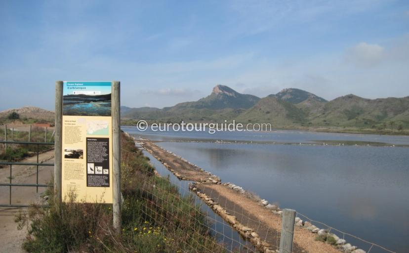 Things to do in Calblanque Regional Park Costa Calida Murcia Spain, seeing the salt flats is one of many places to visit and things to see and do