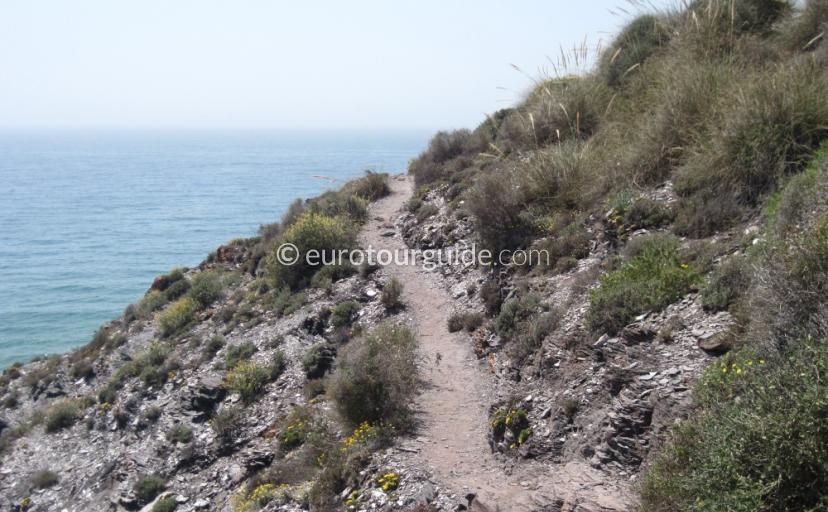 Walking Routes in Calblanque Regional Park Costa Calida Murcia Spain, walking and cycling is one of many places to visit and things to see and do