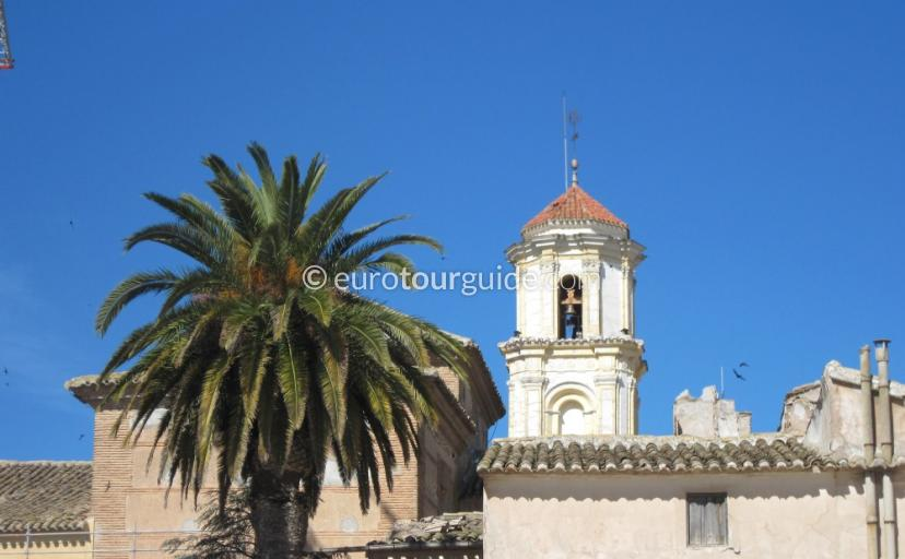 Where to go in Bullas Inland Murcia Spain, the church is one of many places to visit and things to do