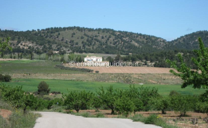 Where to go in Bullas Inland Murcia Spain, Take a Scenic Drive between Bullas and Cehegin one of many places to visit and things to do