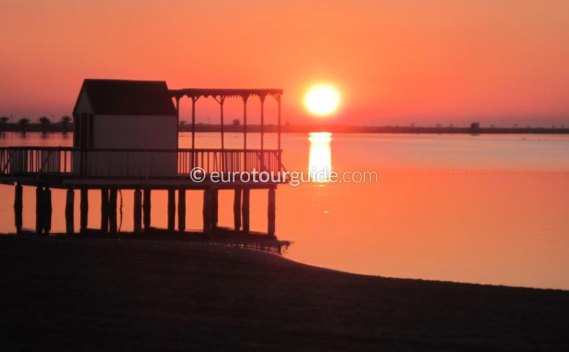 Things to see and do in and around the Mar Menor Murcia Spain, Watching the sunrise  is one of many things to do and places to visi