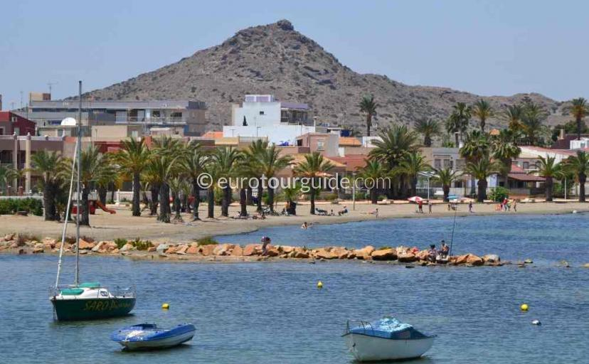 Holiday in Los Urrutias Mar Menor Costa Calida Murcia Spain, Cycling along the promenade is one of many things to do and places to visit here.