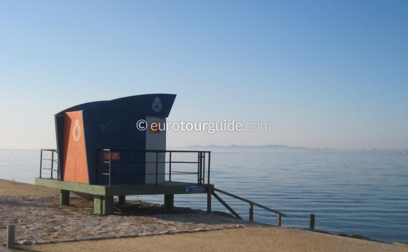 iHoliday n and around the Mar Menor Murcia Spain, Beach Safety and life guards is very important around the beachi