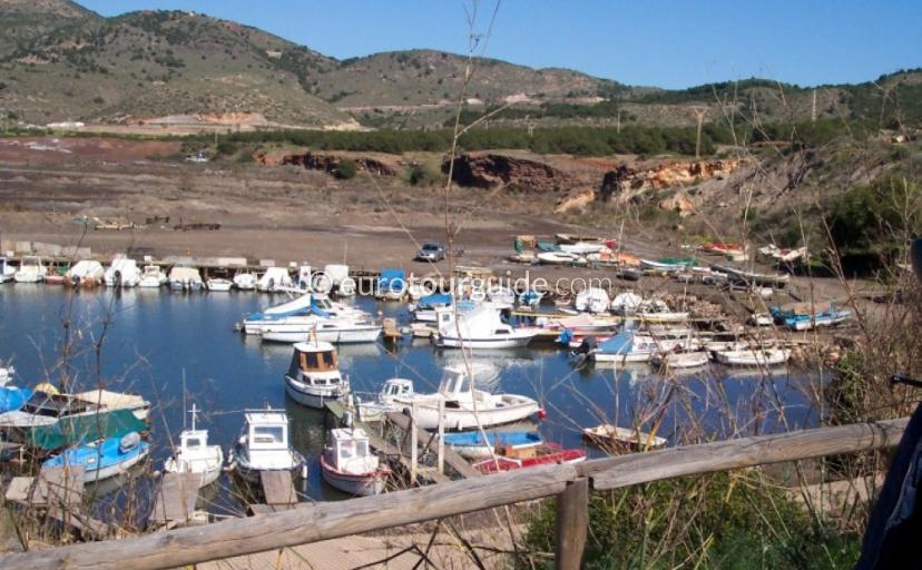 Where to go in Portman Bay Murcia Spain, Playa Lastre and its small marina are one of many things to do and places to visit